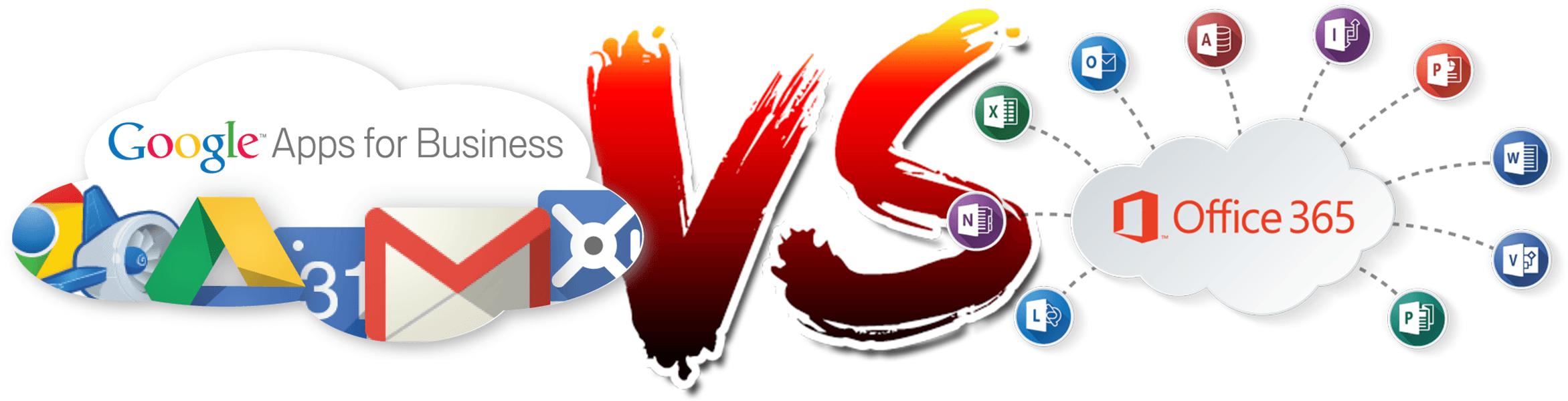 Google Apps vs Office 365 pilvelahendused